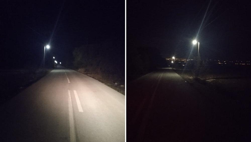 Ολοκληρώθηκε η 1η φάση της επέκτασης του δικτύου ηλεκτροφωτισμού στο δρόμο από Βροντού προς Αγία Τριάδα