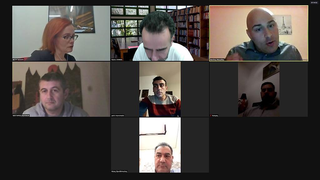 Τηλεδιάσκεψη Σκούφα με μέλη του Δ.Σ της Ένωσης Στρατιωτικών ΠΕ. Πιερίας (Ε.Σ.ΠΕ.Ε.Π.)