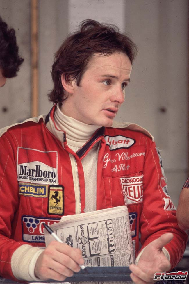August 1978: Canadian grand prix driver Gilles Villeneuve (1950 -1982) at the British grand prix. (Photo by Fox Photos/Getty Images)