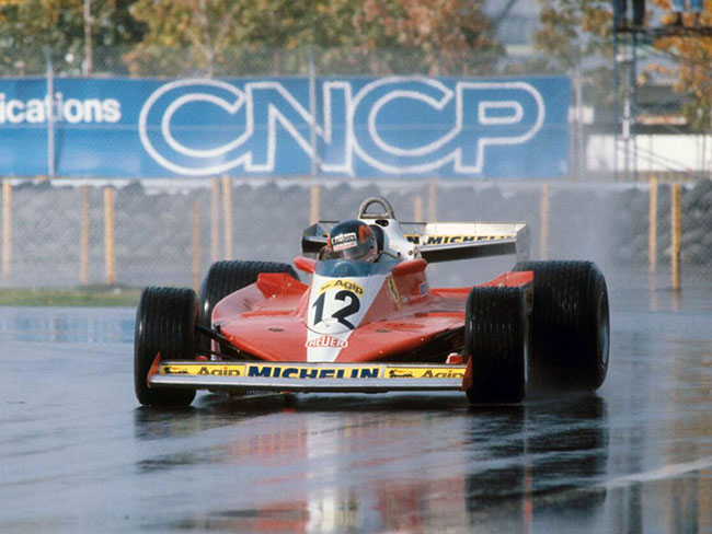 Gilles Villeneuve First Victory Ferrari 312T3 Canadian Grandprix - Montreal Circuit Date: october 8th 1978