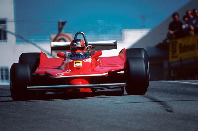 Gilles Villeneuve(CDN) Ferrari 312T5 US GP West, Long Beach, 30 March 1980