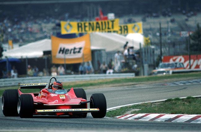 Gilles Villeneuve(CDN) Ferrari 312T5 finished in 6th place German GP, Hockenheim, 10 August 1980