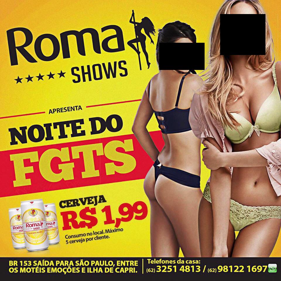 Noite do FGTS, Roma Shows