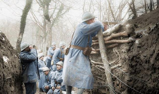 fotos, preto e branco, I Guerra Mundial, coloridas