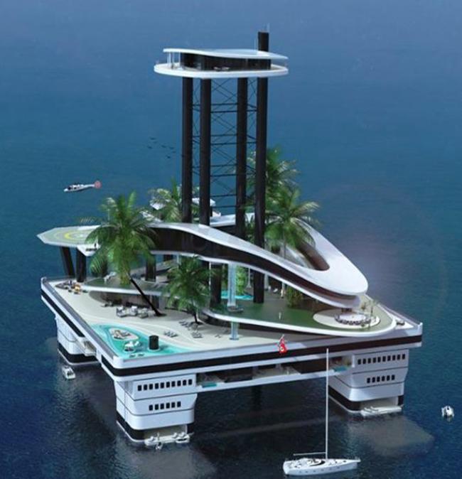 ilha flutuante particular
