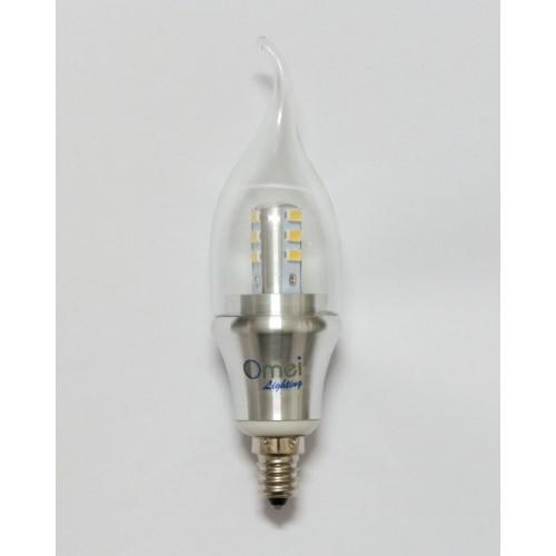 Dimmable 6 Pack Omailighting E12 6w Led Candelabra Base Candle Bulb Light Bulbs 60w 60 Watt