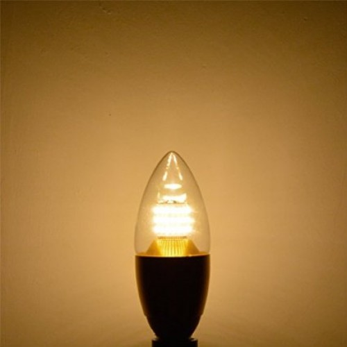 Torpedo Shape 7 Watt Dimmable E12 Led Chandelier Light Bulbs 75w Incandescent Replacement Blunt Tip Silver Alumiuma