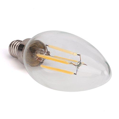 Cool White Led Filament Candelabra E12 Light Bulb Dimmable 5w B10