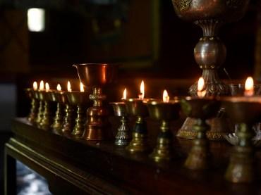 Butter Lamp in Dharamshala