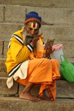 A Sadhu on the banks