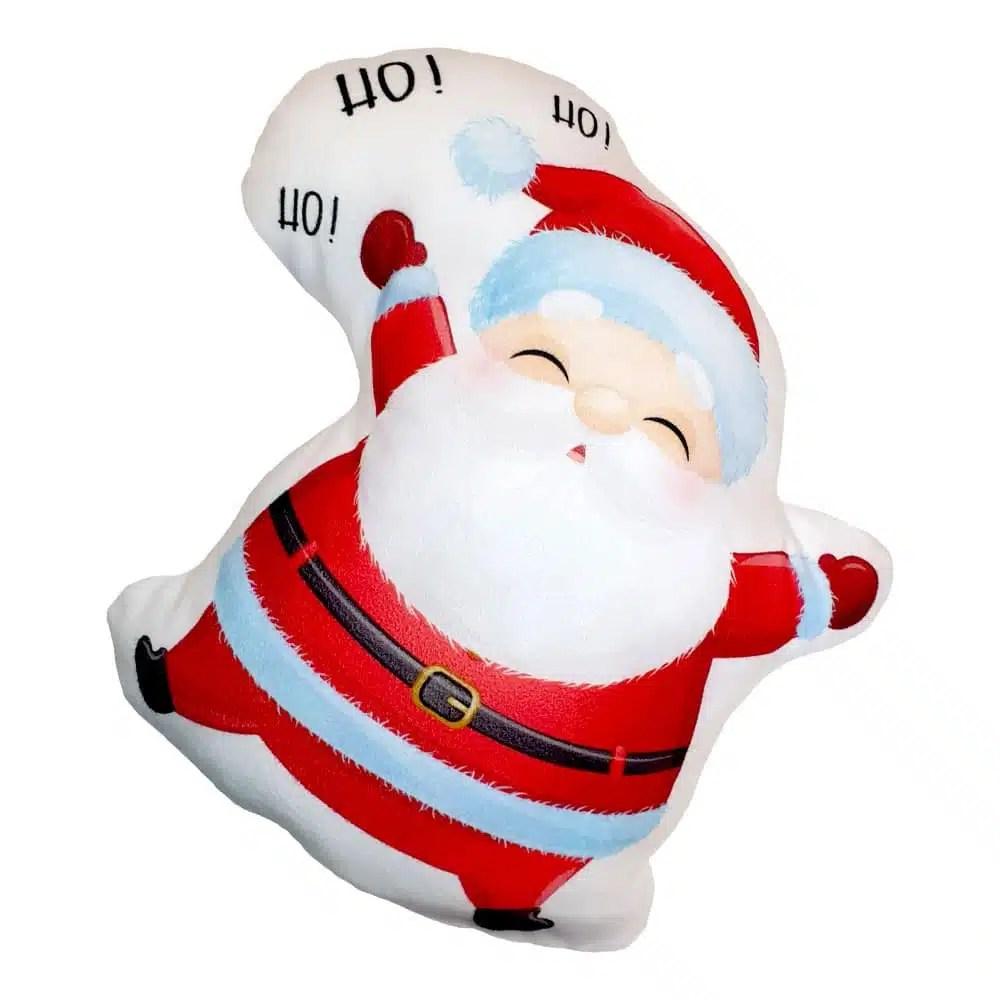 Santa Claus - HO HO HO - Plyšový vankúš - Oma & Luj