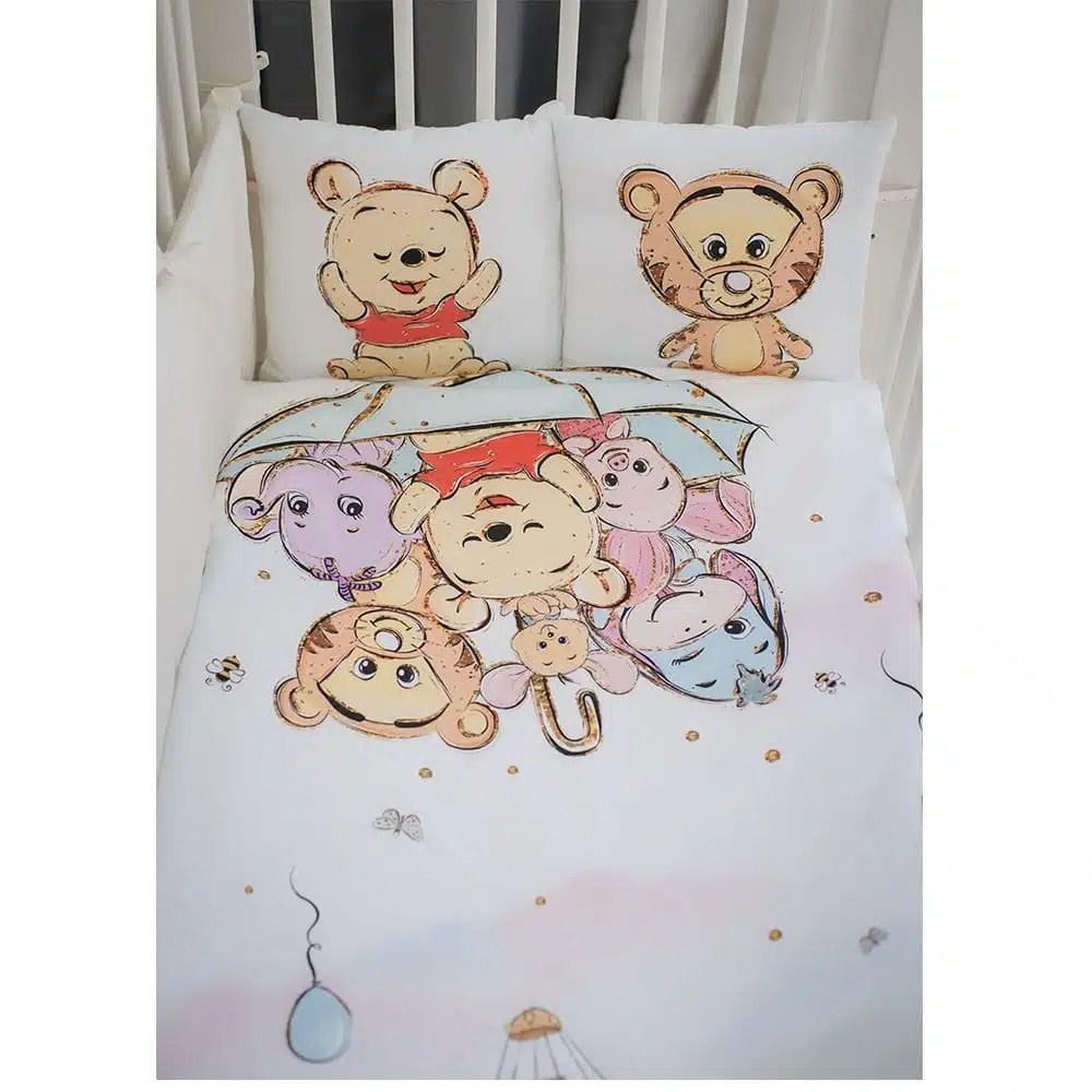Timmi dreams posteľná súprava do postieľky 120x60cm Disney - Oma & Luj