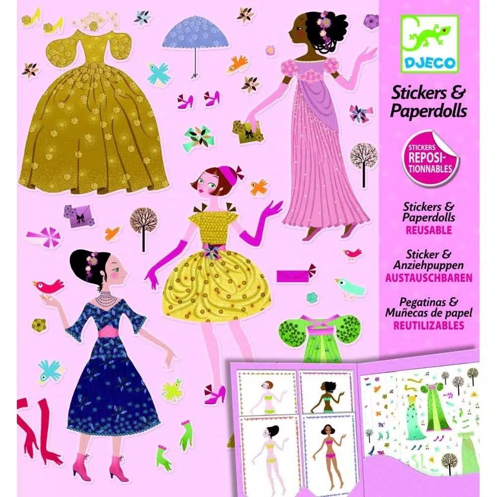 Odnímateľné samolepky obliekanie bábik - Oma & Luj