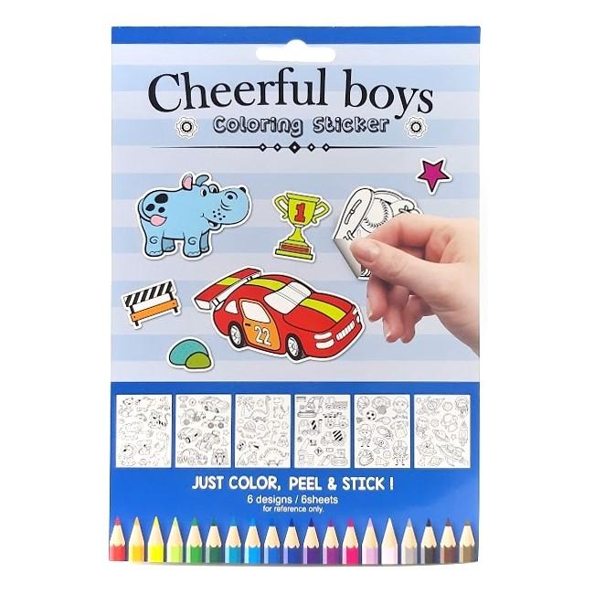 Samolepky na vymaľovanie pre chlapcov - Oma & Luj
