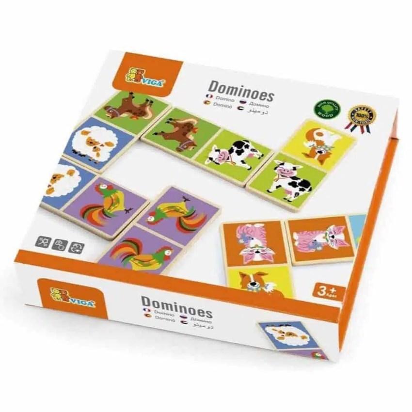 Drevené domino - Domáce zvieratká- Oma & Luj