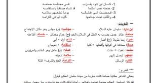 شرح وحل سليمان والحمامة في اللغة العربية للصف الخامس الفصل الاول