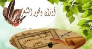 شرح درس أوزان وبحور الشعر لغة عربية للصف الثاني عشر الفصل الثاني