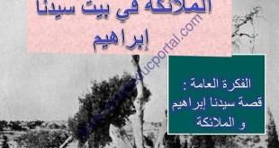 شرح درس الملائكة في بيت سيدنا ابراهيم لغة عربية الصف الثامن الفصل الاول