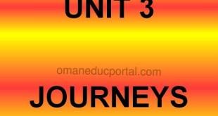 حل الوحدة الثالثة في اللغة الانجليزية للصف التاسع الفصل الاول