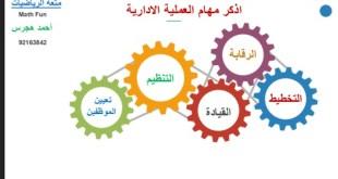 عرض بوربوينت شرح وحل تمارين درس المهام الأساسية لمدير الشركة الناجح رياضيات تطبيقية الصف الثاني عشر الفصل الثاني