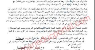 اختبار تشخيصي لغة عربية للصف الثامن الفصل الاول 2021-2022