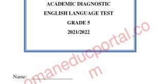 نموذج واجابة الاختبار التشخيصي والأسئلة الاختبارية اللغة الانجليزية للصف الخامس فصل اول 2021-2022