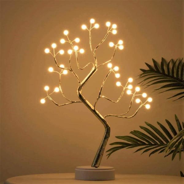 arbre lumineux d'ambiance lumière décoration intérieur plantes sur table
