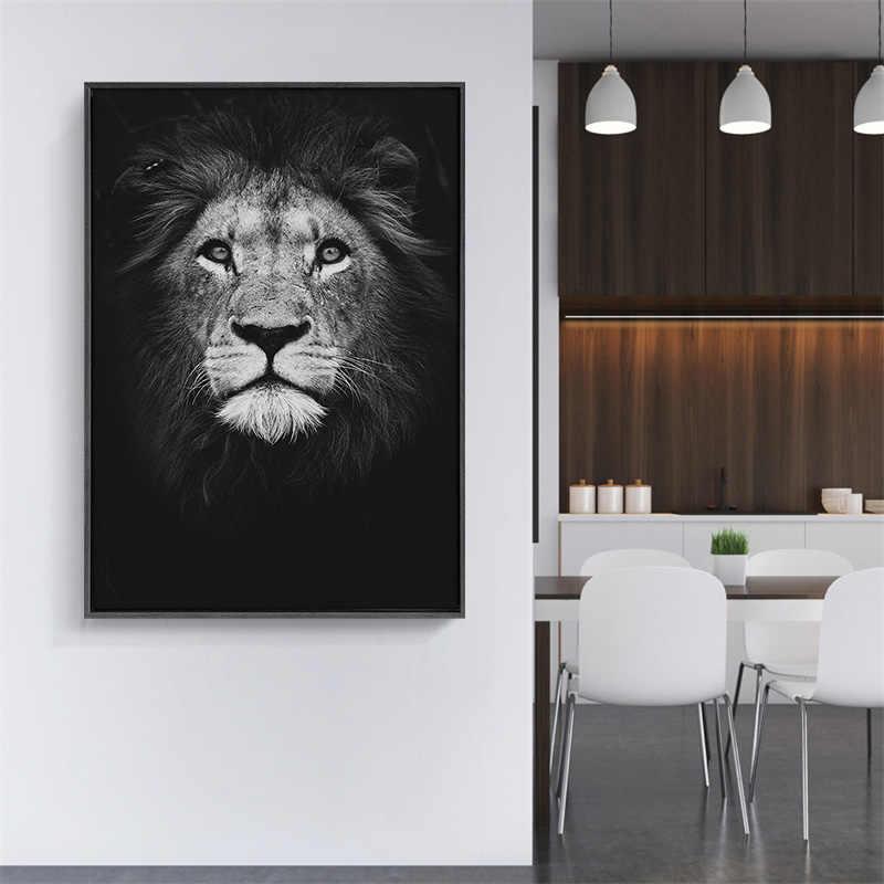 affiche murale animaux noir et blanc pour décoration salle a manger
