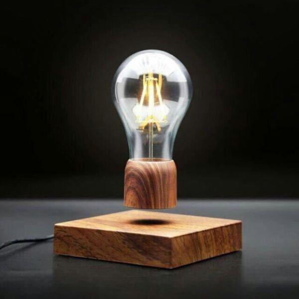 ampoule en lévitation magnétique flottante décoration design