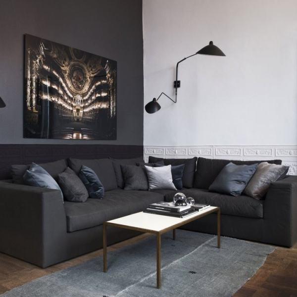 applique mural double bras designer pour décoration salon