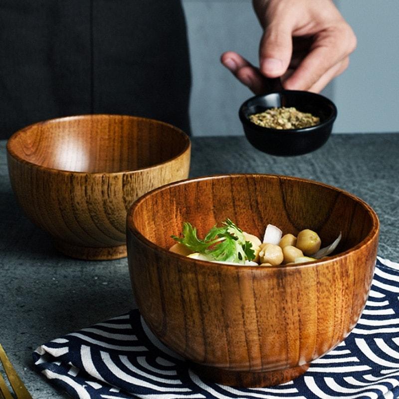 bol en bois style japonais décoration cuisine