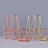 bougeoir géométrique en métal style scandinave dorée différentes tailles