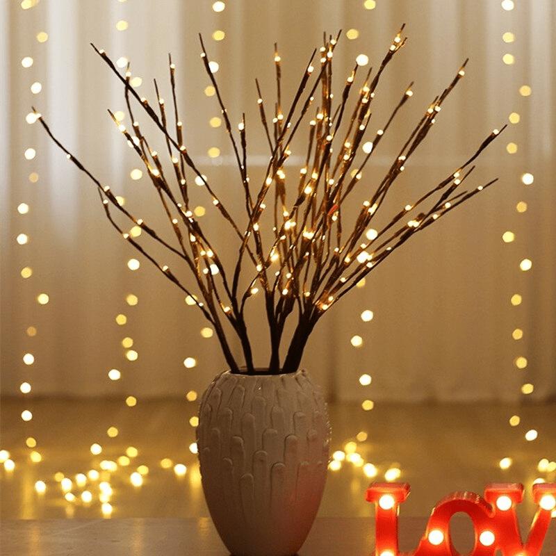 branche lumineuse a led decoration vase