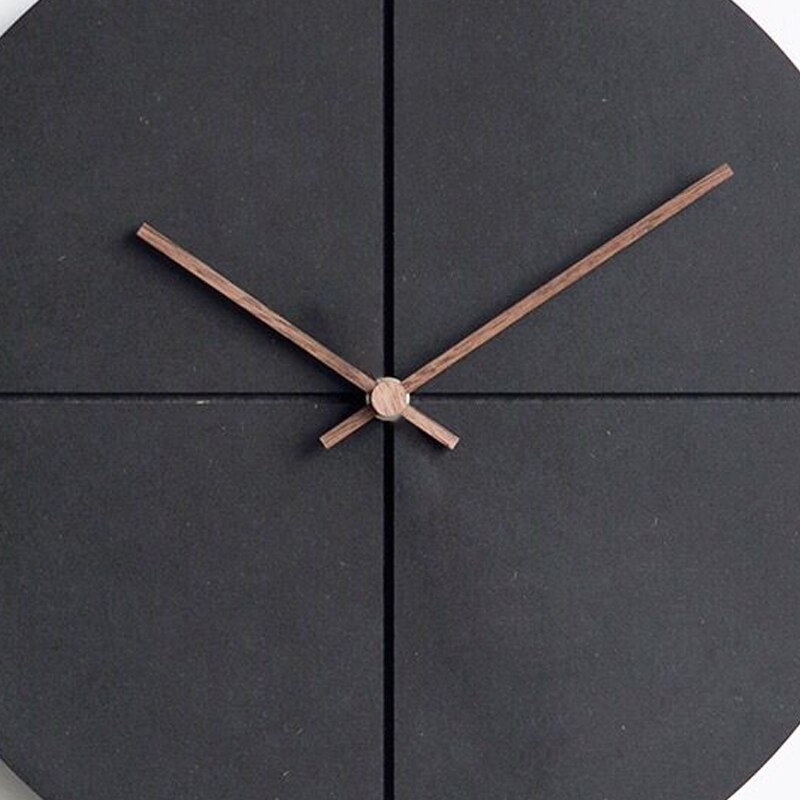 horloge style scandinave design bois noir