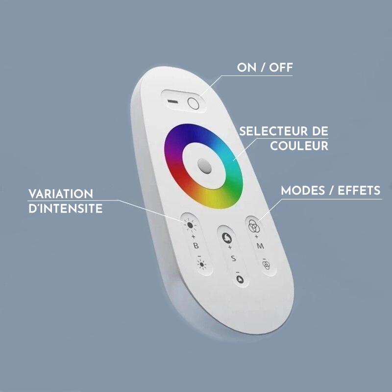télécommande pour lampadaire d'angle led rvb pour décoration d'intérieur