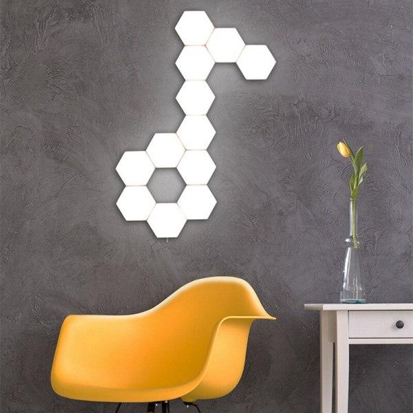 lumière murale d'intérieur hexagonale tactile moderne et design