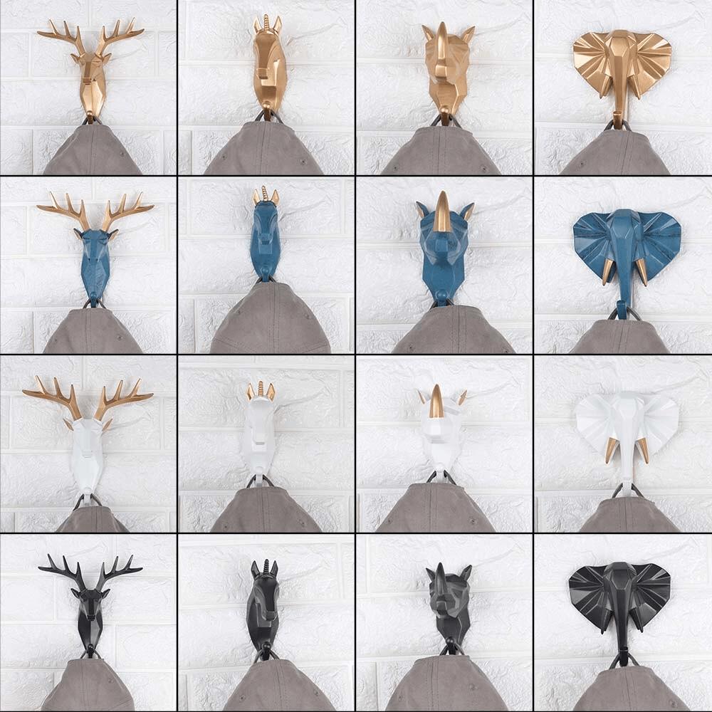 patère décoratif tête animaux décoration murale