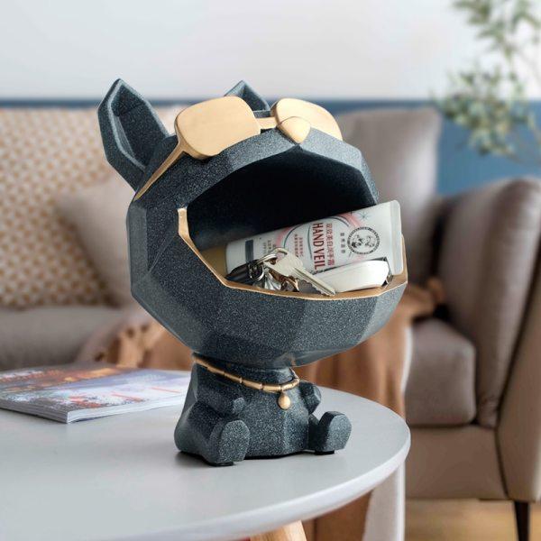 Vide poche chien origami décoration intérieur moderne
