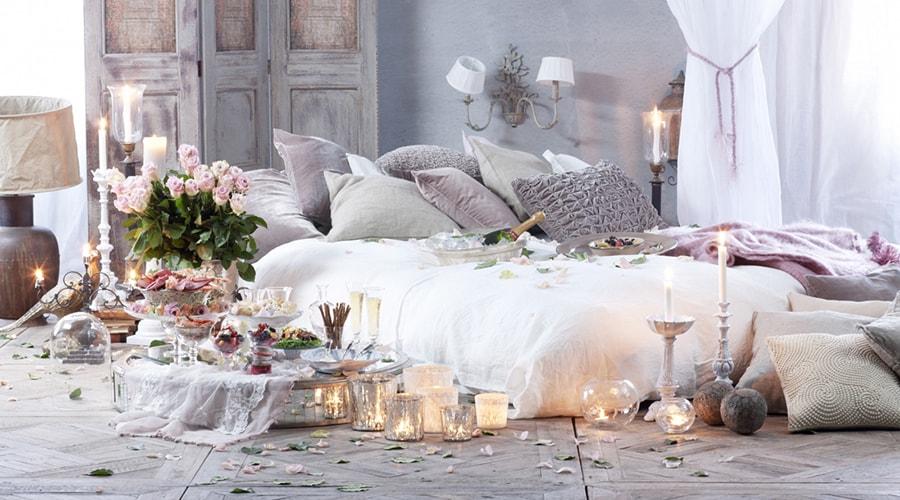 bougies décoration saint Valentin