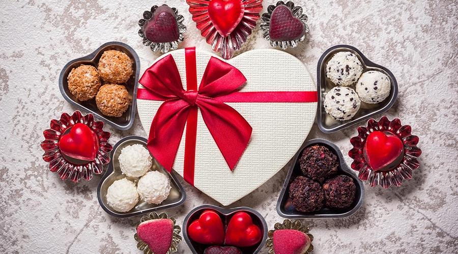 chocolats décoration saint Valentin