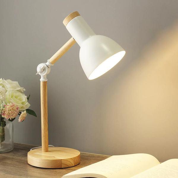 lampe de bureau scandinave ajustable blanc
