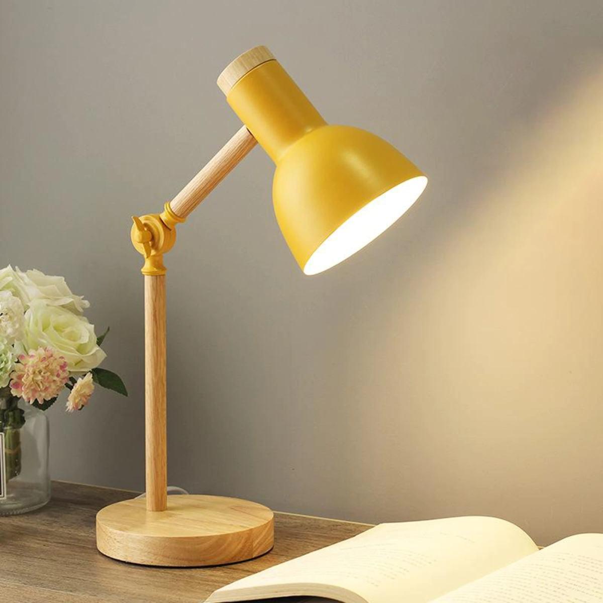 lampe de bureau scandinave ajustable jaune
