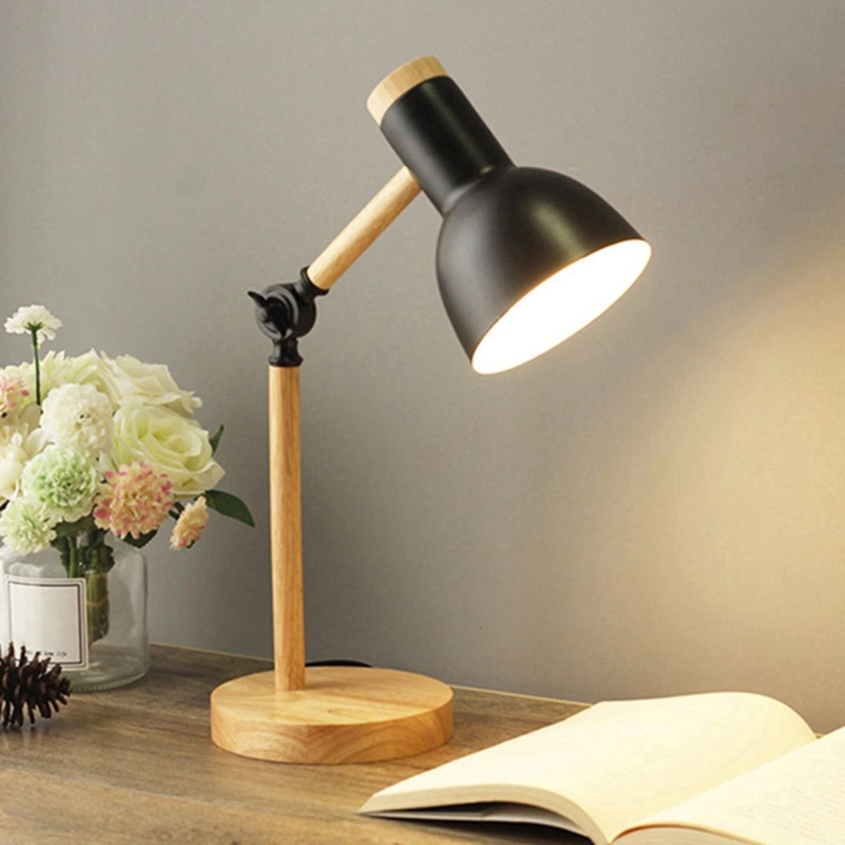 lampe de bureau scandinave ajustable noir