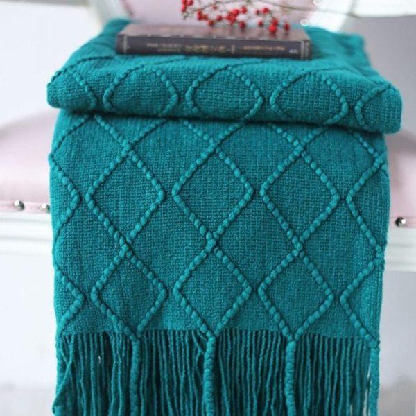 plaid tricoté confort aménagement intérieur