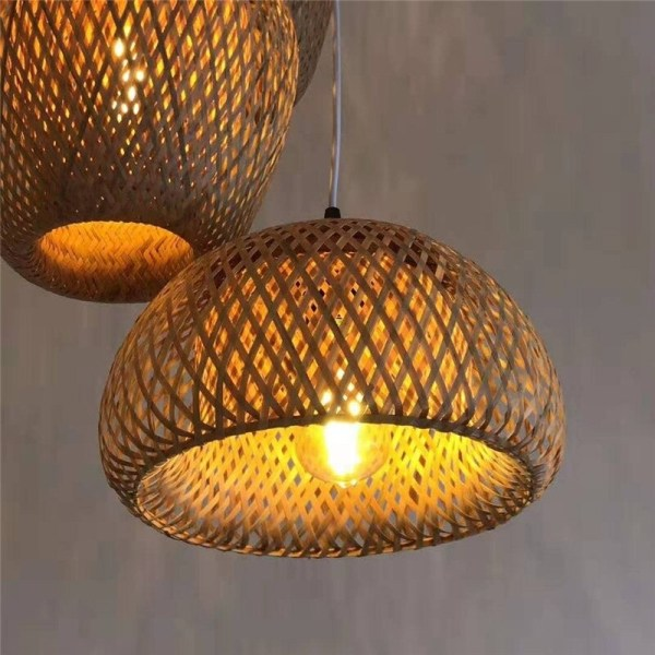suspension luminaire en bambou artisanal
