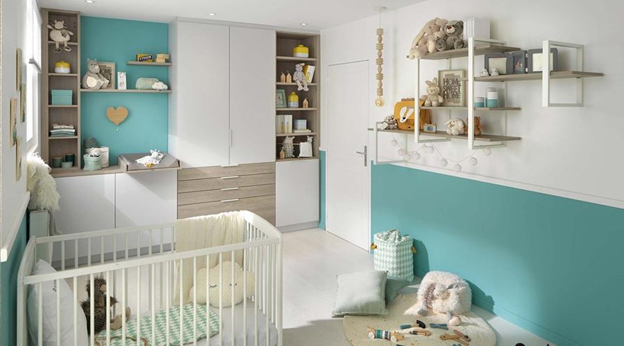rangement chambre bébé rangement murale