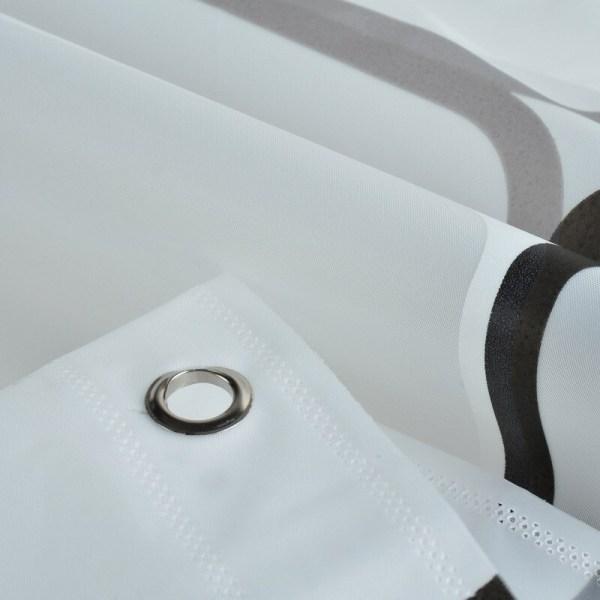 Rideau de douche 3D anneaux fixation