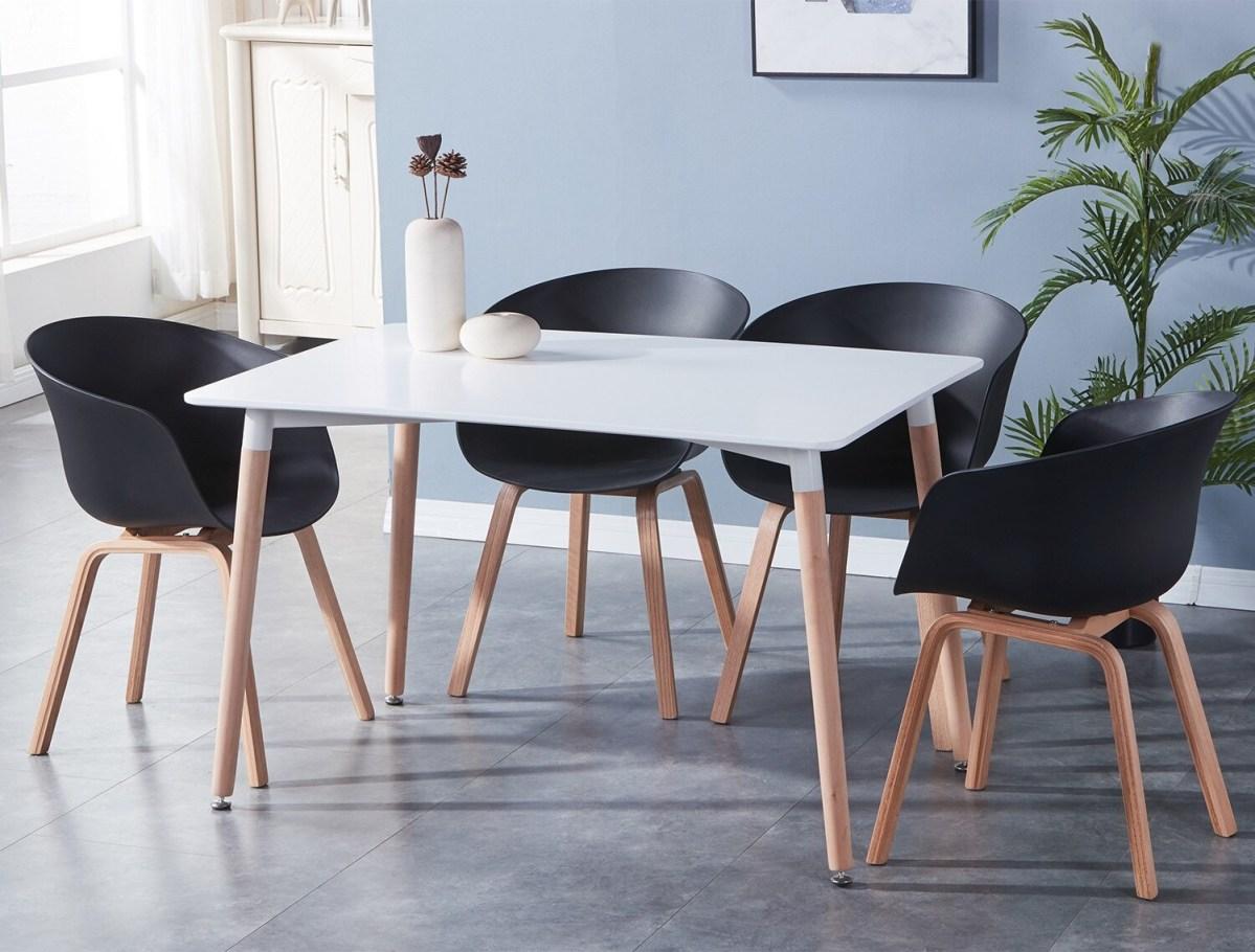 chaise moderne salle à manger noir