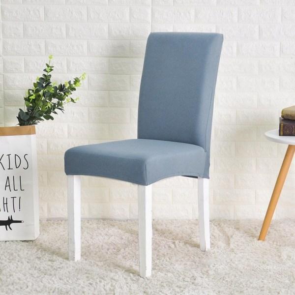 housse couvre chaise bleu