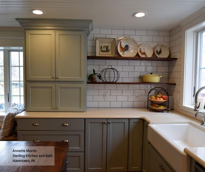Rain Blue Gray Cabinet Paint On Maple Omega